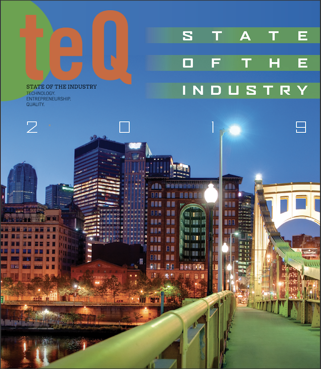Cover of State of the Industry issue of TEQ